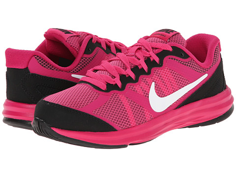 Nike Kids - Fusion Run 3 (Little Kid) (Hot Pink/Black/Fireberry/White) Girls Shoes