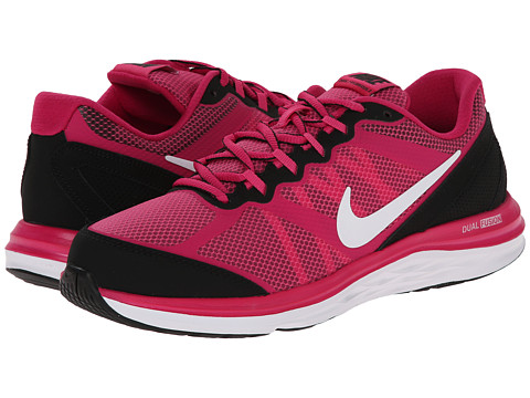 Nike Kids - Dual Fusion Run 3 (Big Kid) (Hot Pink/Black/Fireberry/White) Girls Shoes