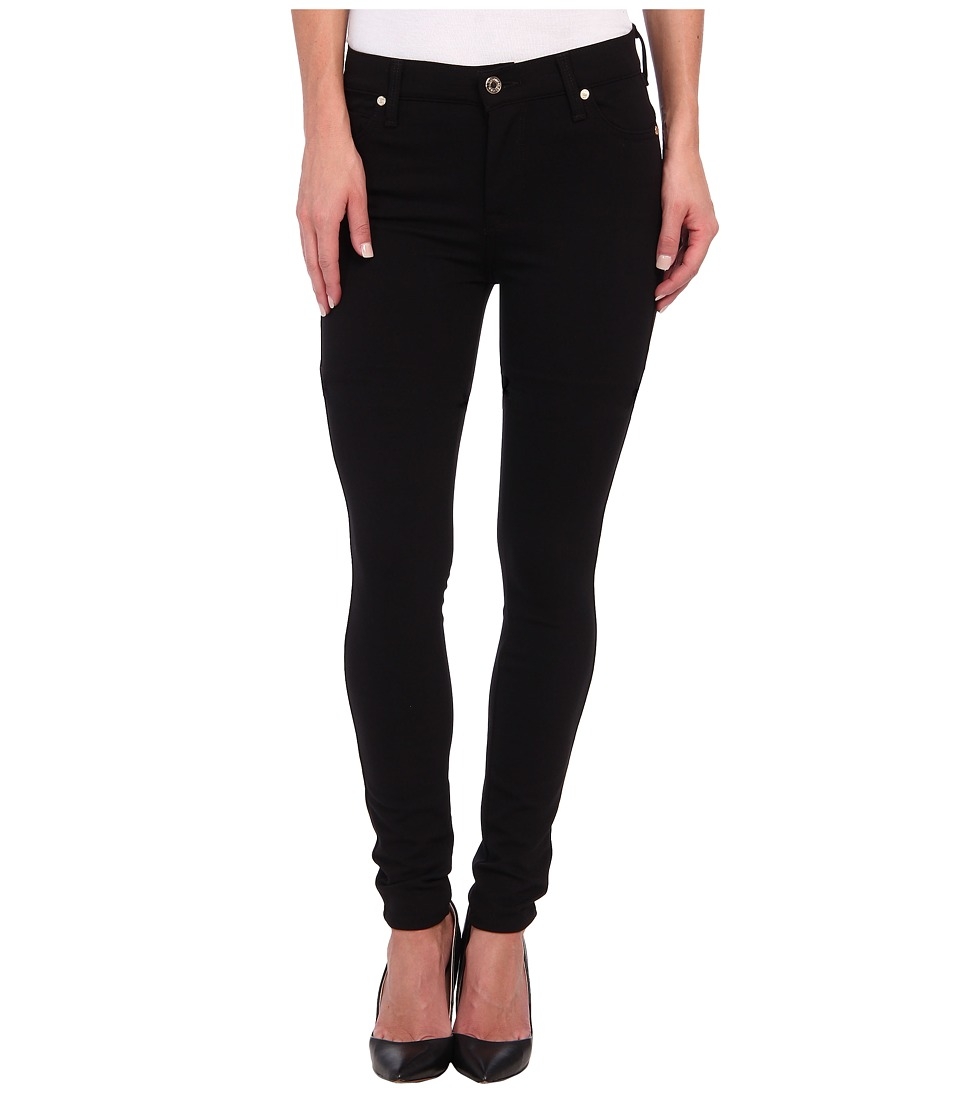 7 For All Mankind - The Doubleknit High Waist Skinny in Black (Black) Women