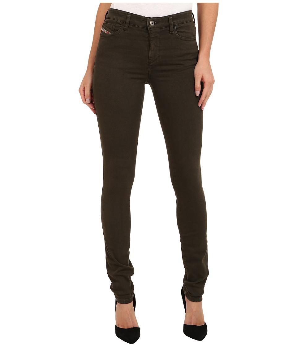 Diesel - Skinzee Skinny 851W (Olive/Green) Women's Jeans