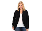 DKNY Jeans Plus Size Solid Two-Pocket Cardigan (Noir)