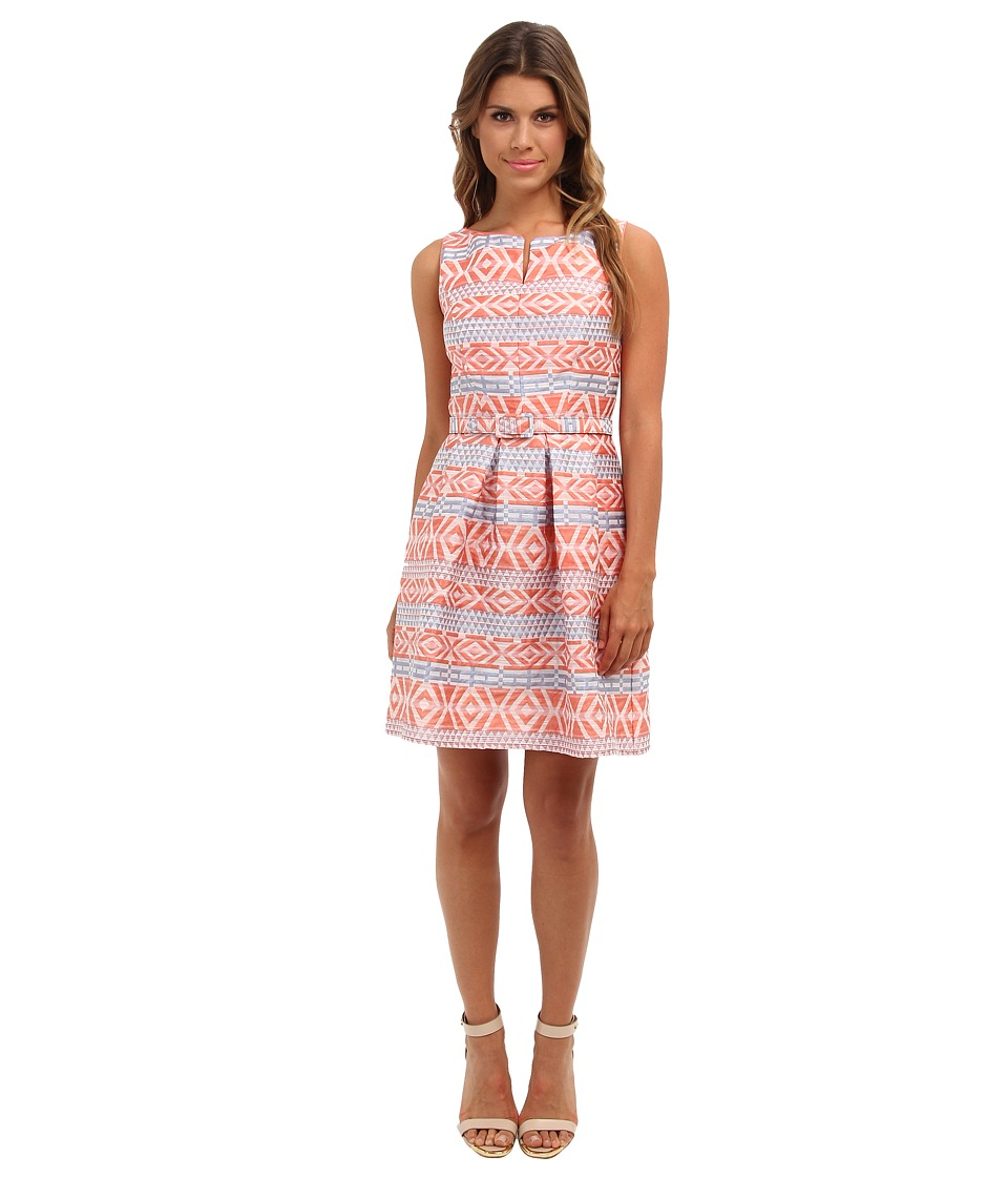 Jessica Simpson Fit and Flare w/ Bodice Seaming and Keyhole Neckline Dress (Camillia) Women