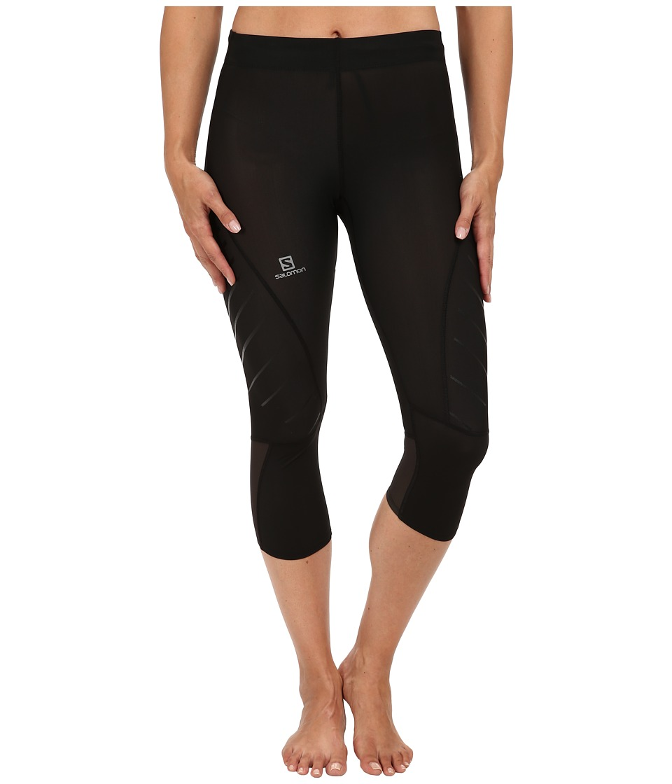 Salomon - Endurance 3/4 Tight (Black) Women's Clothing