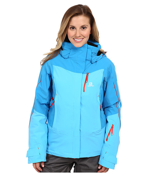 Salomon - Iceglory Jacket (Blue Line) Women's Coat