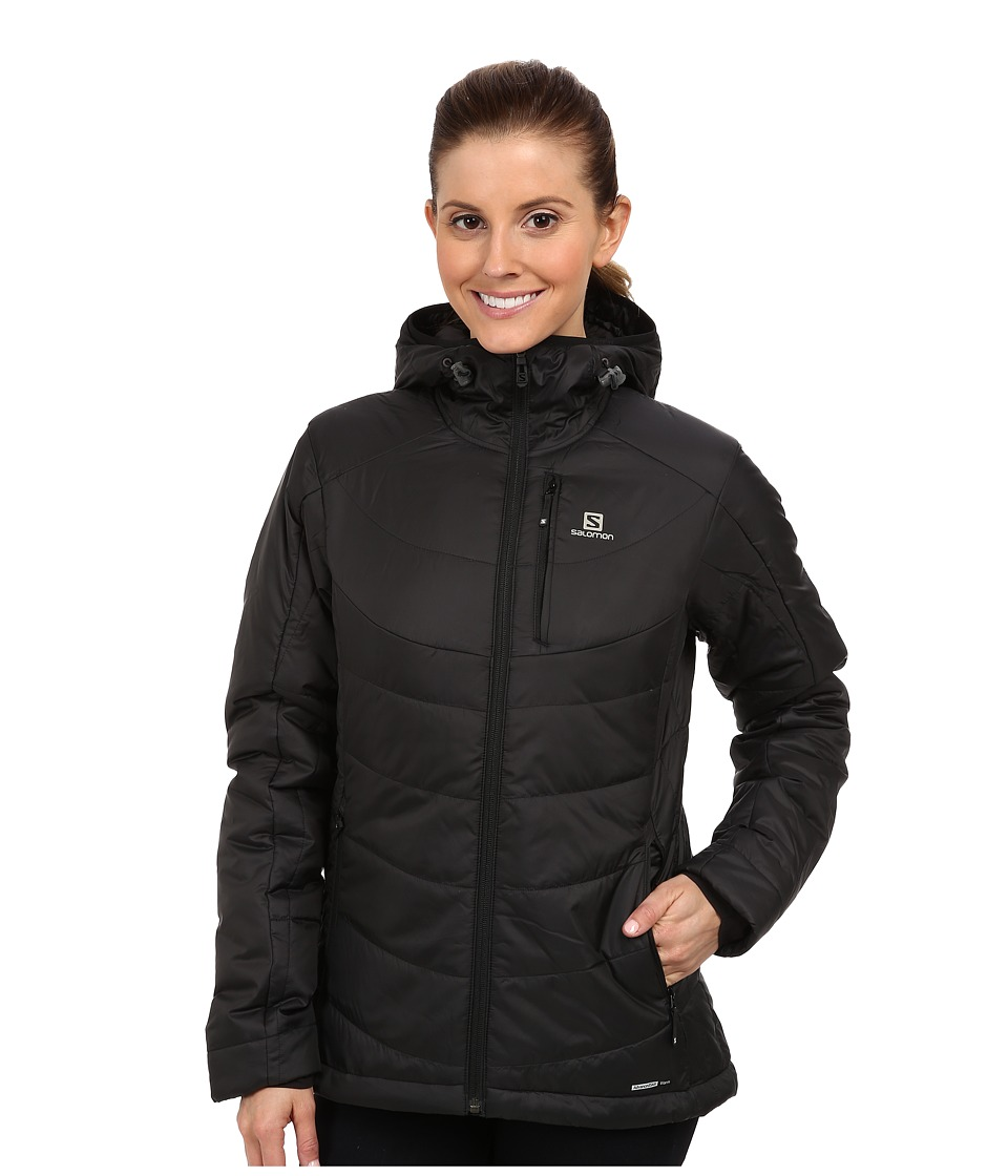 Salomon - Insulated Hoodie Jacket (Black) Women's Coat