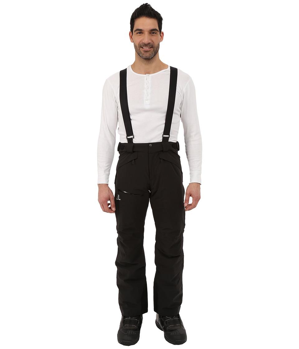 Salomon - Chill Out Bib Pant (Black) Men's Casual Pants