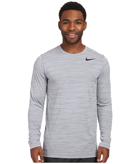 Nike - Dri-FIT Touch L/S (Wolf Grey/Cool Grey/Heather/Black) Men's T Shirt