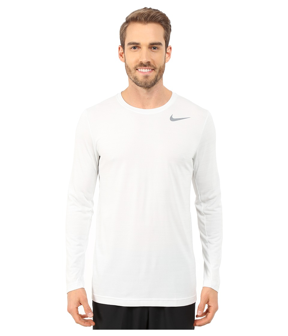 Nike - Dri-FIT Touch L/S (White/Pure Platinum/Heather/Cool Grey) Men