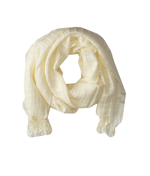Echo Design - Box Pleat Wrap (Cream) Scarves