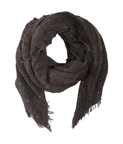 Echo Design - Brushed Houndstooth Wrap (Black) Scarves