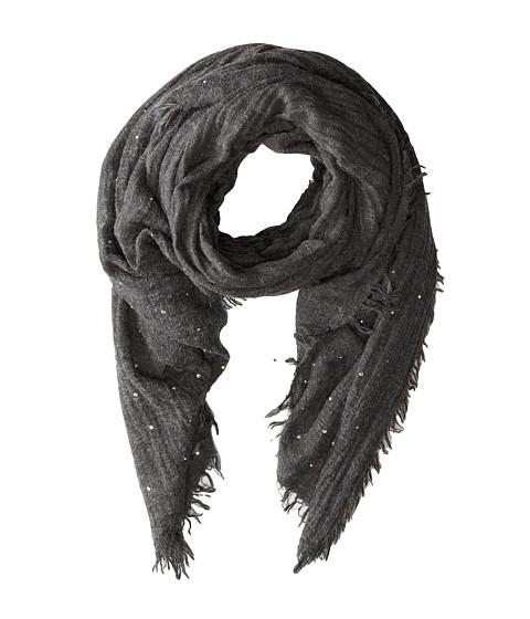 Echo Design - Brushed Houndstooth Wrap (Charcoal) Scarves