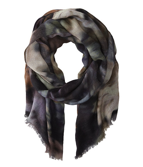 Echo Design - Vintage Floral Wrap (Black) Scarves