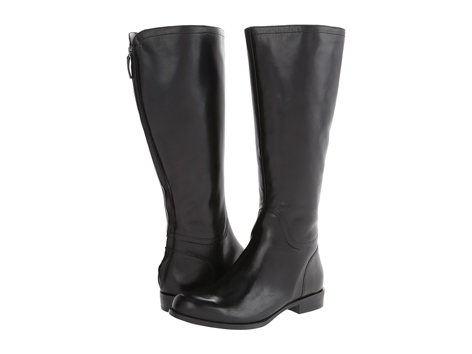 Nine West - Contigua Wide Calf (Black Leather) Women's Zip Boots
