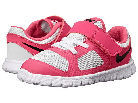 Nike Kids - Flex 2014 Run (Infant/Toddler) (Pure Platinum/Hot Pink/White/Black) Girls Shoes