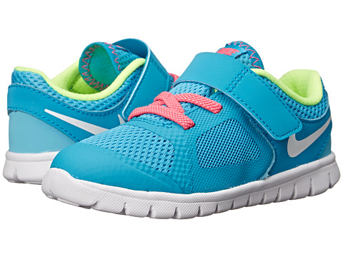 Nike Kids - Flex 2014 Run (Infant/Toddler) (Clearwater/Blue Lagoon/Pink Pow/White) Girls Shoes