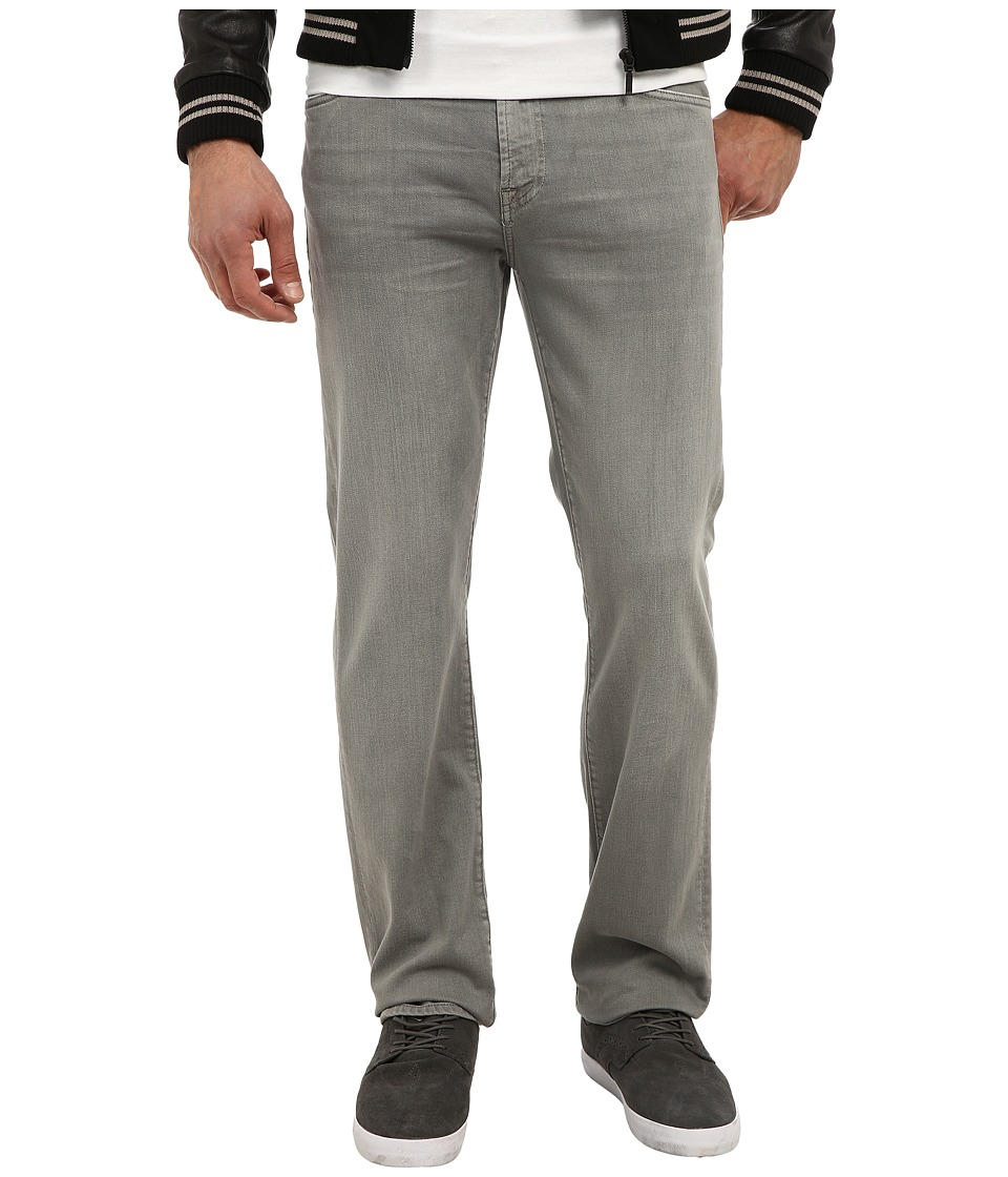 7 For All Mankind - Luxe Performance Slimmy Slim Straight in Twill Colors (Stone Grey Wash) Men's Casual Pants