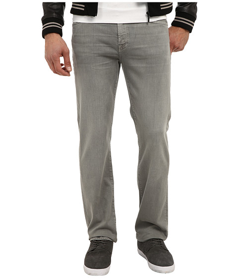 7 For All Mankind - Luxe Performance Slimmy Slim Straight in Twill Colors (Stone Grey Wash) Men