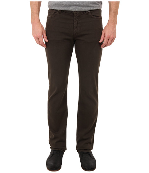 7 For All Mankind - Luxe Performance Slimmy Slim Straight in Twill Colors (Dark Earth) Men's Casual Pants