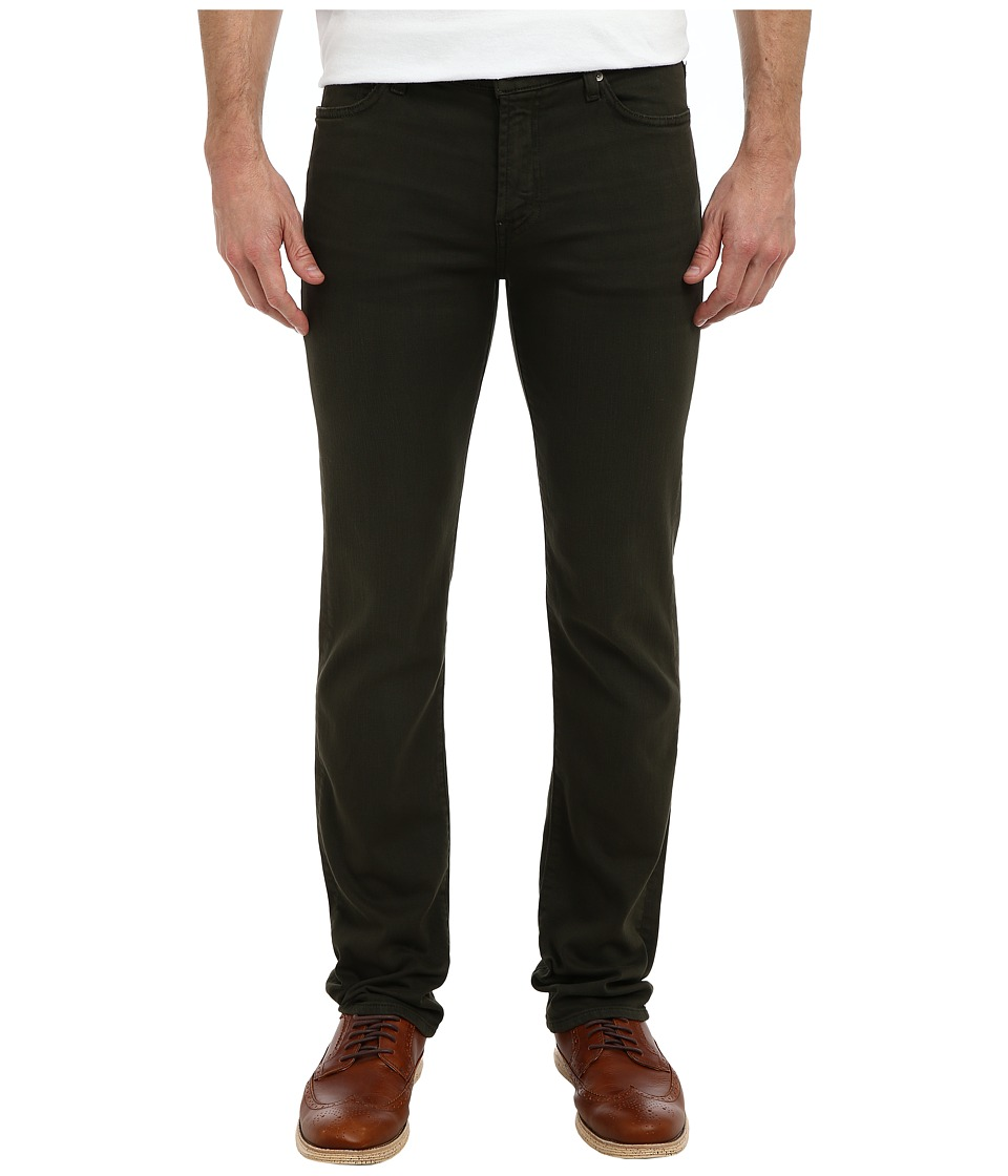 7 For All Mankind - Luxe Performance Slimmy Slim Straight in Twill Colors (Twig Green) Men's Casual Pants