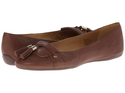 Shop Nine West online and buy Nine West Drafted Brown Leather Womens Flat Shoes shoes online