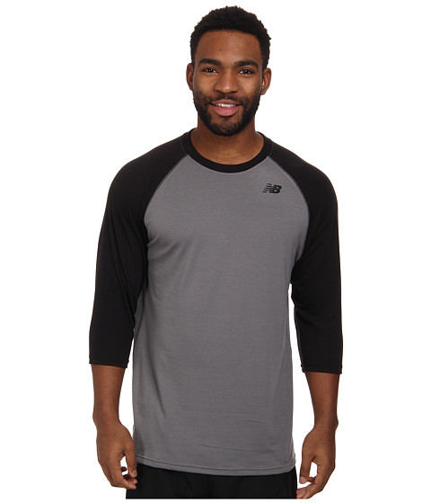 New Balance - 3/4 Raglan (Team Black) Men's Workout