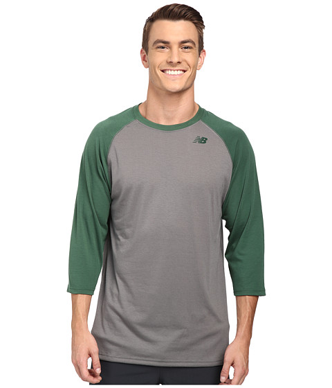 New Balance - 3/4 Raglan (Team Dark Green) Men's Workout