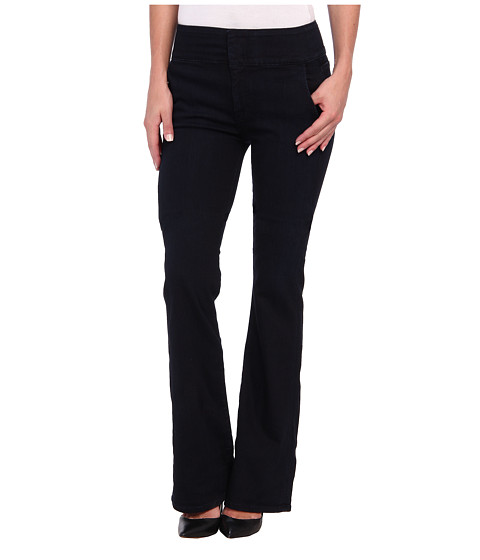 7 For All Mankind - Fashion High Waist Wide Leg Trouser in Lilah Blue Black 2 (Lilah Blue Black 2) Women