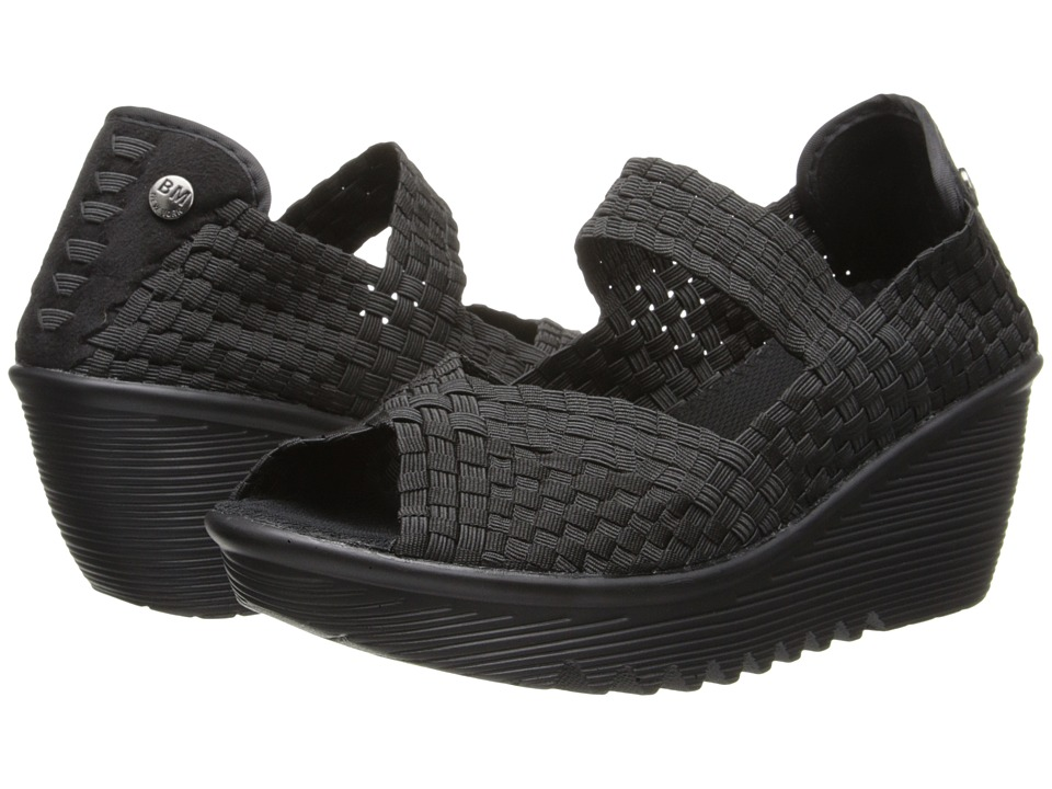 bernie mev. - Halle (Black) Women's Wedge Shoes