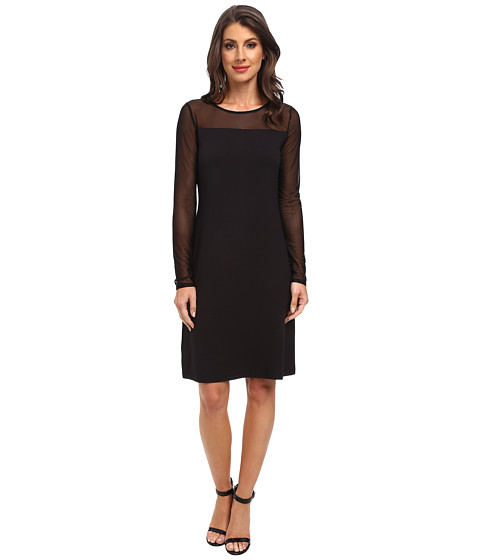 Tommy Bahama - Gower Jersey Illusion Dress (Black) Women's Dress