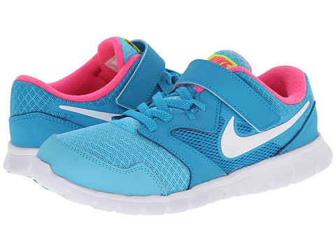 Nike Kids - Flex Experience 3 (Little Kid) (Clearwater/Blue Lagoon/Pink Pow/White) Girls Shoes