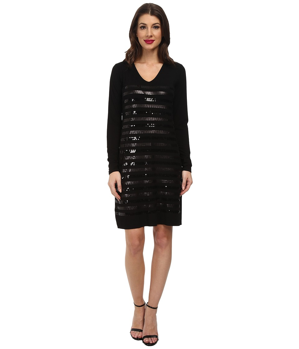 Tommy Bahama - Sequin Knit Dress (Black) Women's Dress