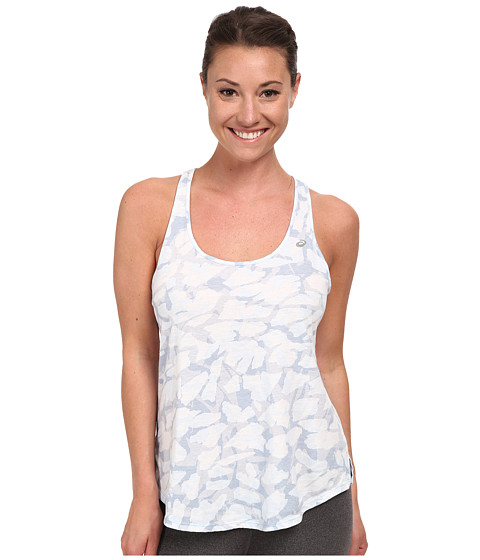 ASICS - Print Slub Tank (Tonal Blue Collage) Women