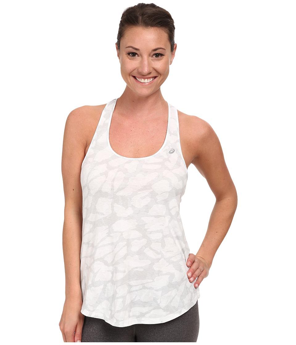 ASICS - Print Slub Tank (Tonal Grey Collage) Women's Workout