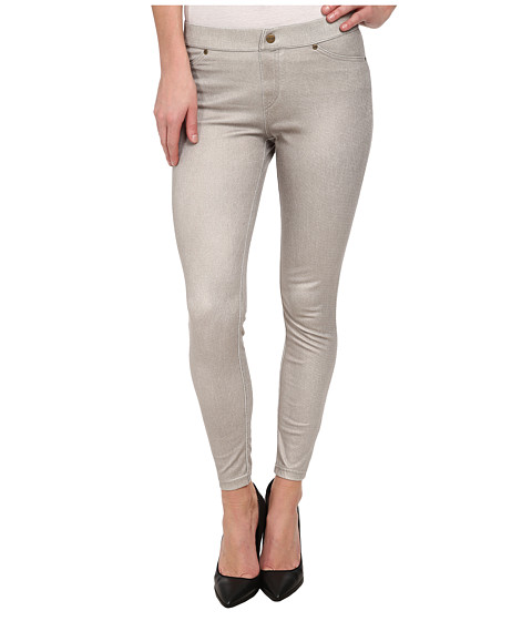HUE - Metallic Denim Skimmer (Pebble) Women
