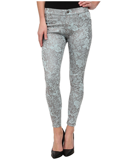HUE - Floral Gleam Denim Skimmer (Aqua Sky) Women's Casual Pants
