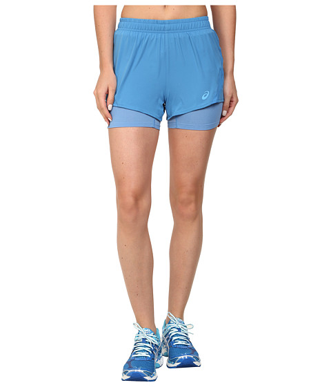 ASICS - 2-N-1 Woven Short 3 (Jeans) Women's Workout