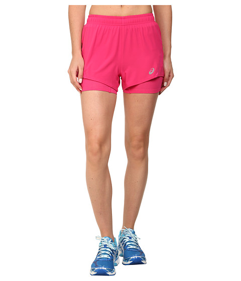 ASICS - 2-N-1 Woven Short 3 (Ultra Pink) Women's Workout