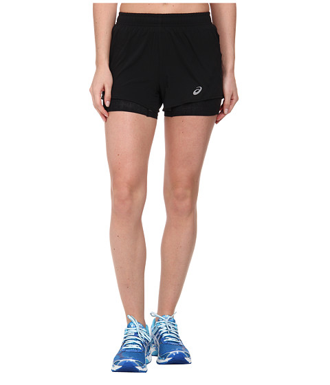 ASICS - 2-N-1 Woven Short 3 (Performance Black) Women