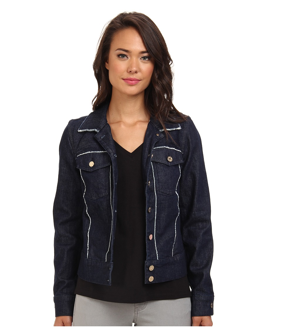 7 For All Mankind - Raw Edge Denim Jacket in Raw Edge Denim (Raw Edge Denim) Women's Coat