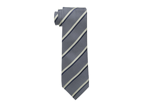 John Varvatos Star U.S.A. - Vintage Herringbone Stripe (Charcoal) Ties