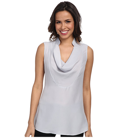 NIC+ZOE - Drape Neck Layer Textured Crepe (Iceberg) Women