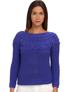 SALE! $114.99 - Save $233 on Rachel Roy Cable Top (Bohemian Blue) Apparel - 66.96% OFF $348.00