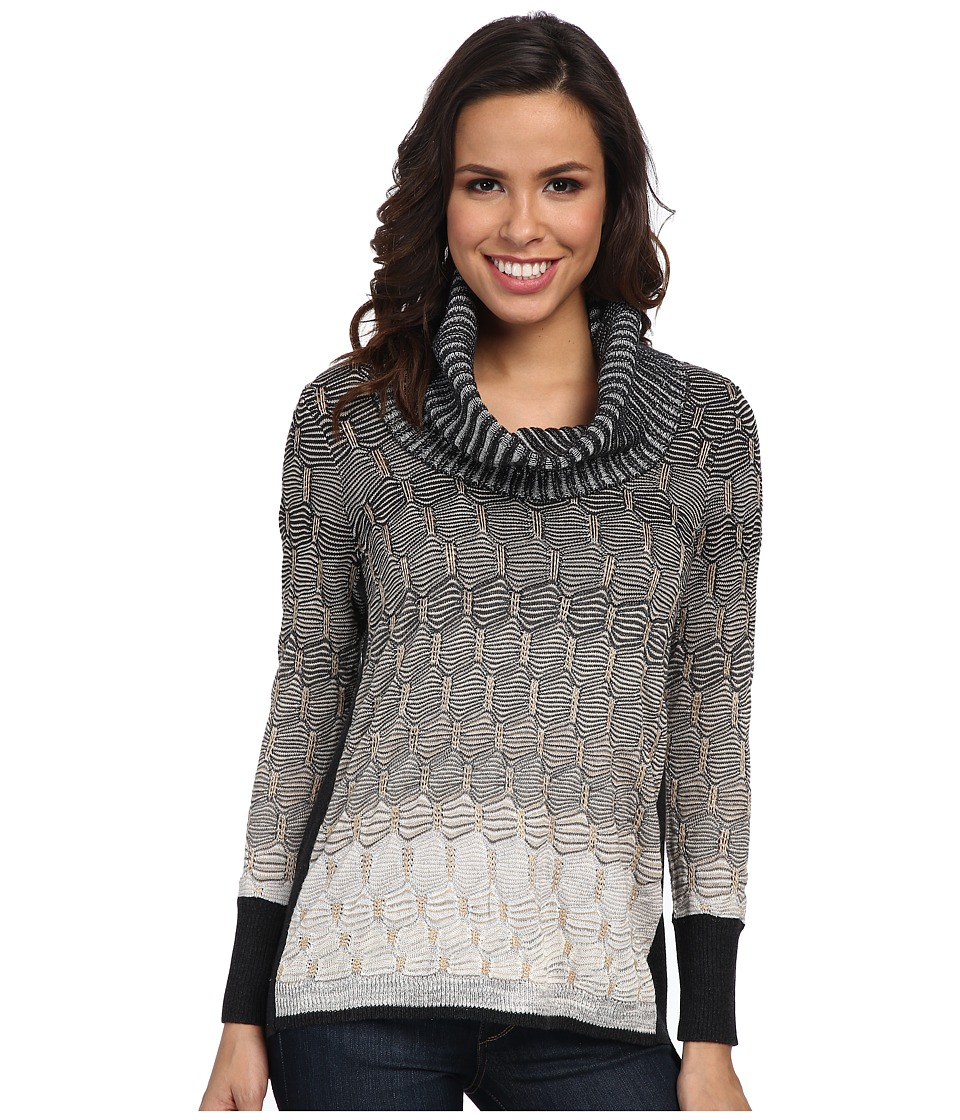 NIC+ZOE - Ombred Texture Top (Neutral Mix) Women's Long Sleeve Pullover