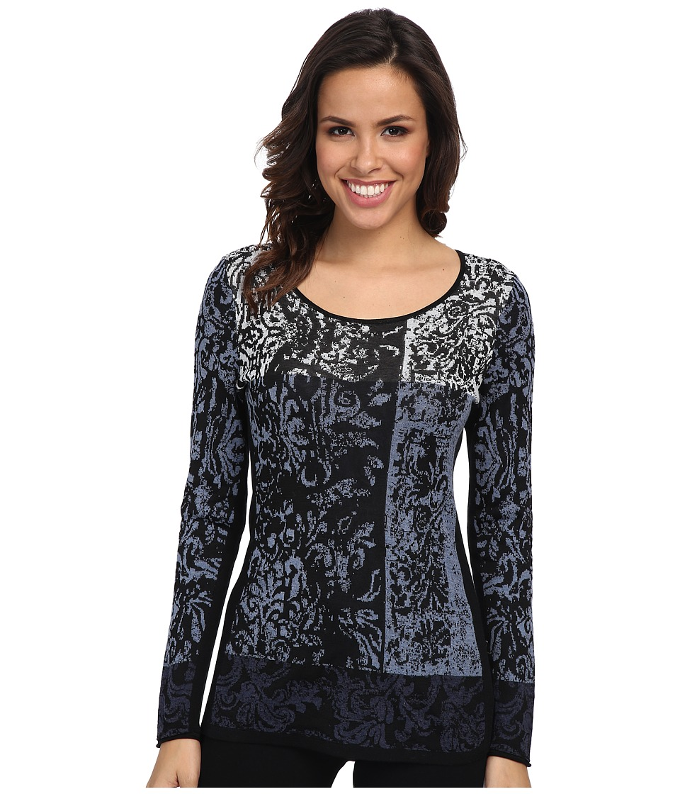 NIC+ZOE - Perfectly Placed Top (Blue Waves Multi) Women's Long Sleeve Pullover