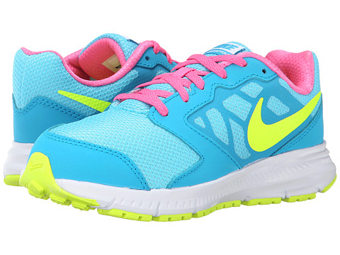 Nike Kids - Downshifter 6 (Little Kid/Big Kid) (Clearwater/Blue Lagoon/Pink Pow/White) Girls Shoes