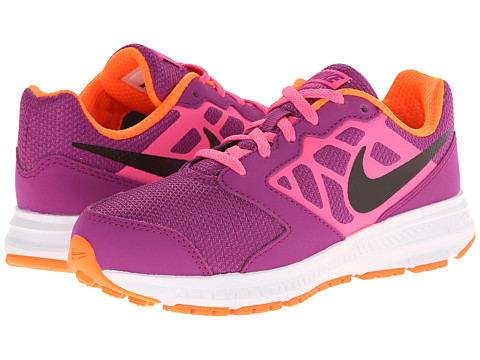 Nike Kids - Downshifter 6 (Little Kid/Big Kid) (Bold Berry/Pink Pow/Total Orange/Black) Girls Shoes