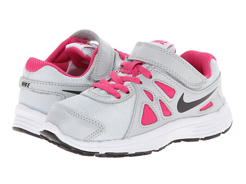 Nike Kids - Revolution 2 (Little Kid) (Pure Platinum/Hot Pink/Black) Girls Shoes