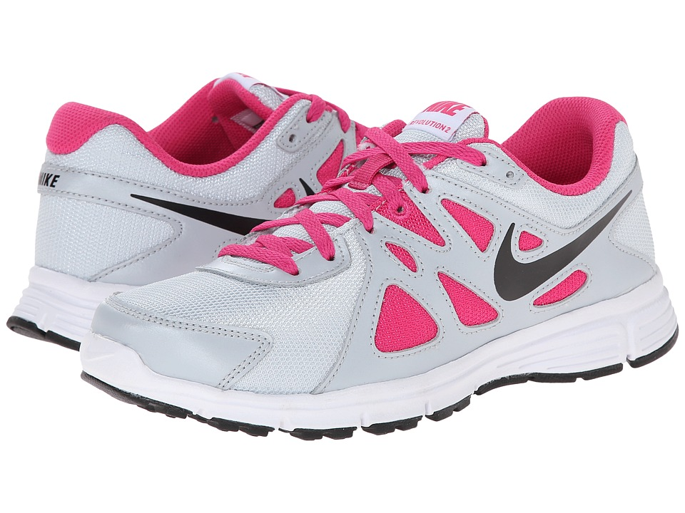 Nike Kids - Revolution 2 (Big Kid) (Pure Platinum/Hot Pink/Black) Girls Shoes