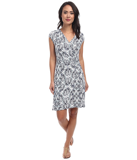 Tommy Bahama - Poetto Paisley Wrap Dress (Ocean Deep) Women's Dress