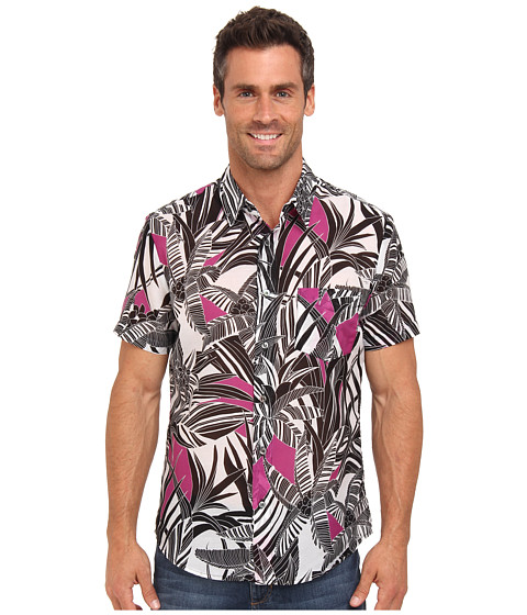 Mr.Turk - Slim Jim Shirt (Pink) Men's Short Sleeve Button Up